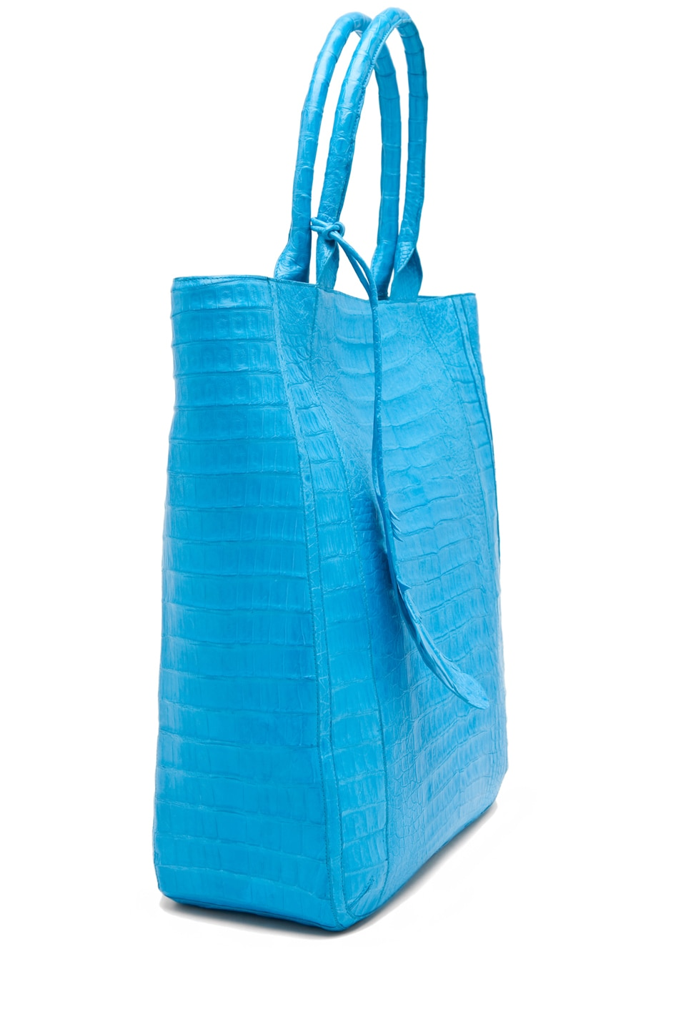 Image 3 of Nancy Gonzalez Crocodile Leaf Tote in Blue