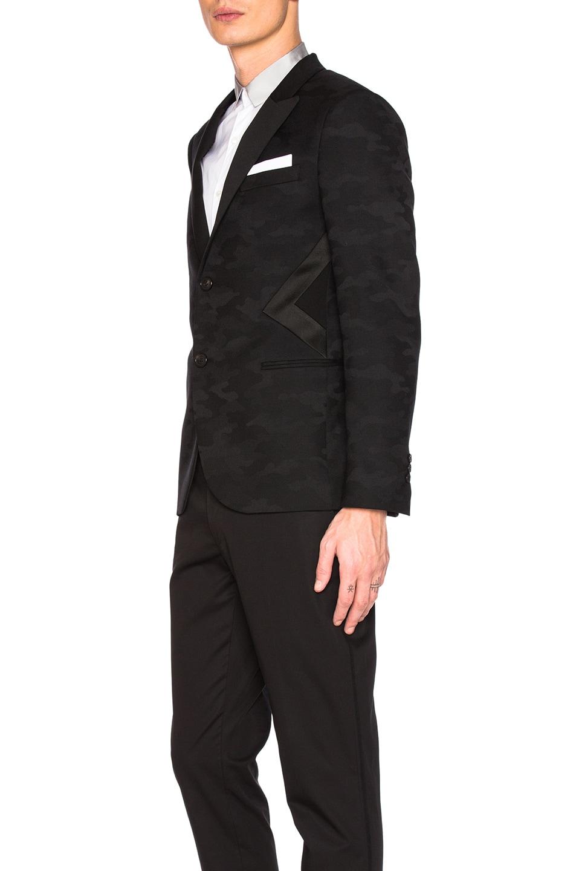 Neil barrett modernist tuxedo jacket in black modesens for Neil barrett tuxedo shirt