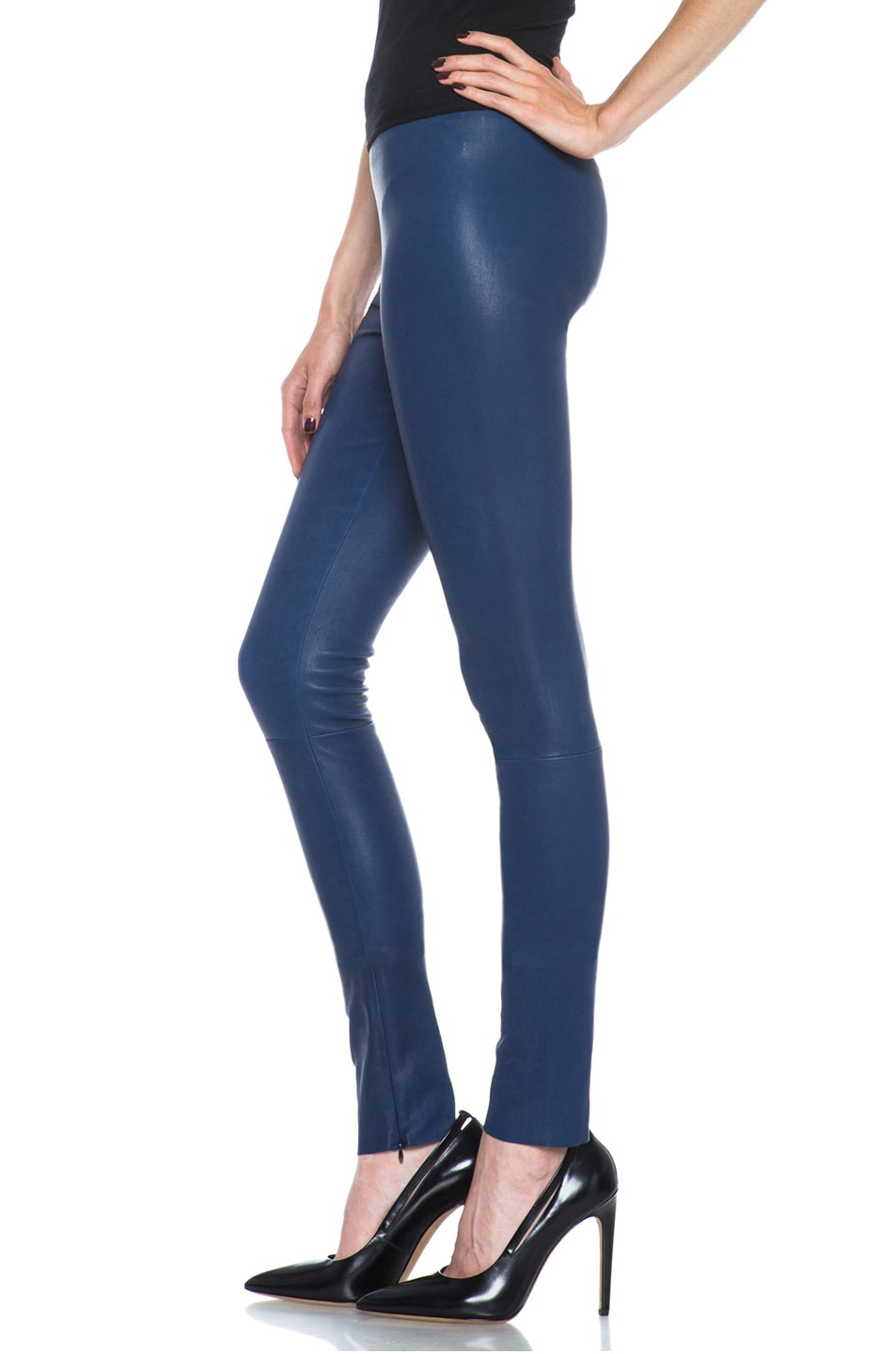 Image 2 of Neil Barrett Lambskin Leather Legging in Primary