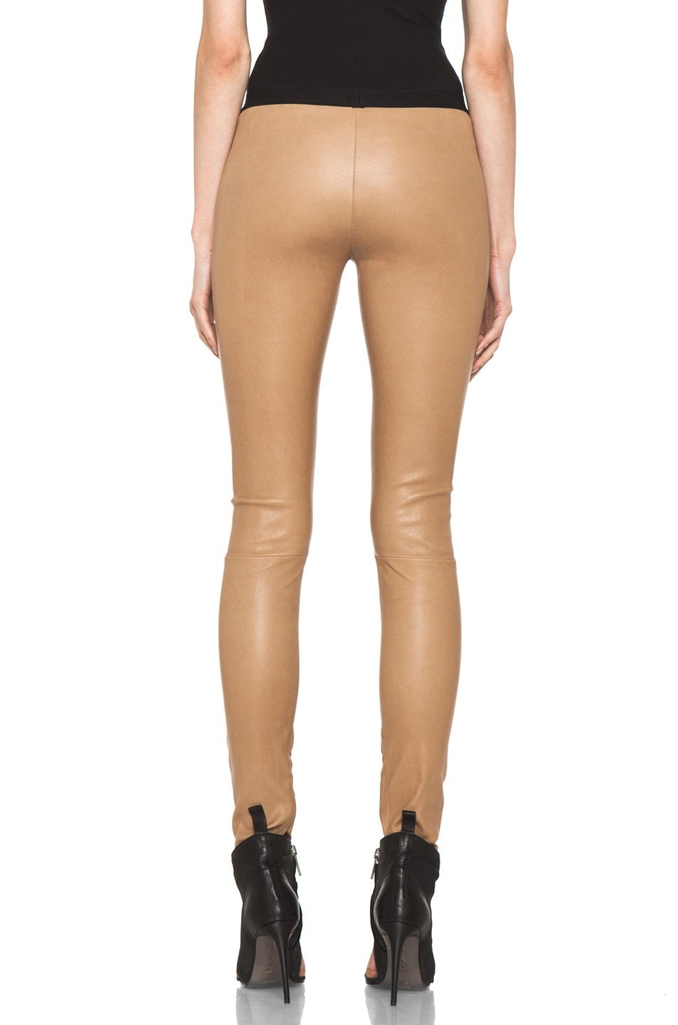 Image 4 of Neil Barrett Leather Leggings in Camel