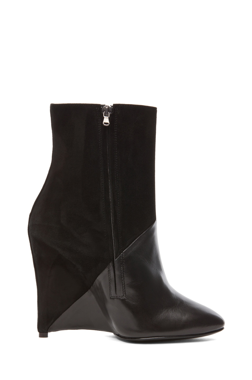 Image 5 of Neil Barrett White Dijon Suede Bootie in Black