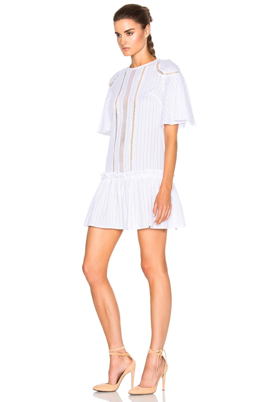 Image 2 of NICHOLAS Shoulder Panel Dress in White