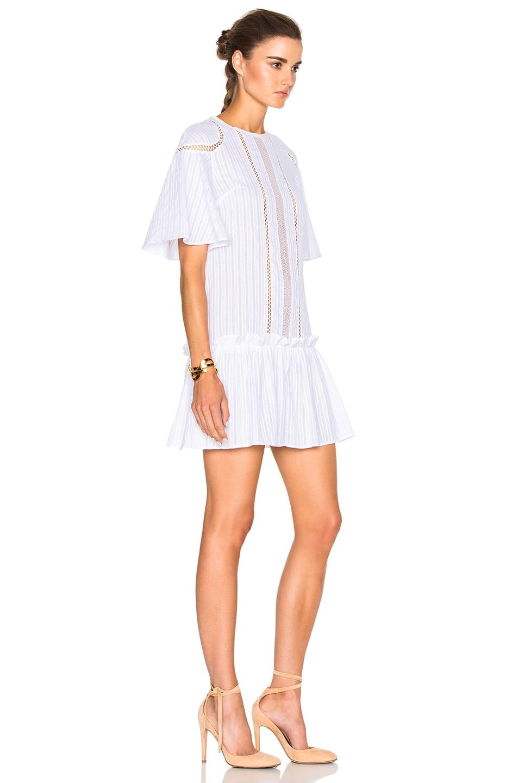 Image 3 of NICHOLAS Shoulder Panel Dress in White