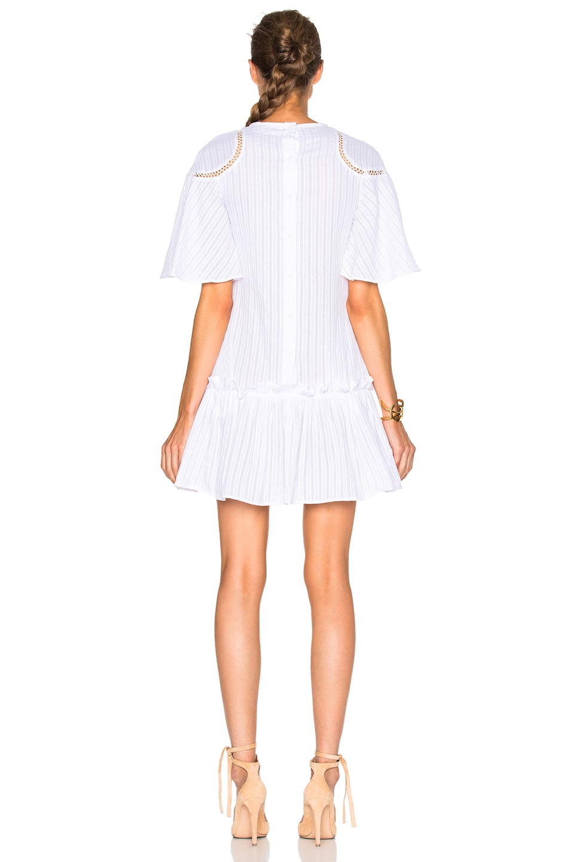 Image 4 of NICHOLAS Shoulder Panel Dress in White