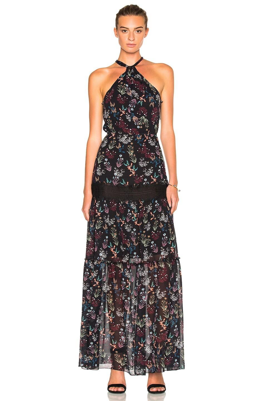Nicholas Tiered Maxi Dress Black Garden Floral Modesens