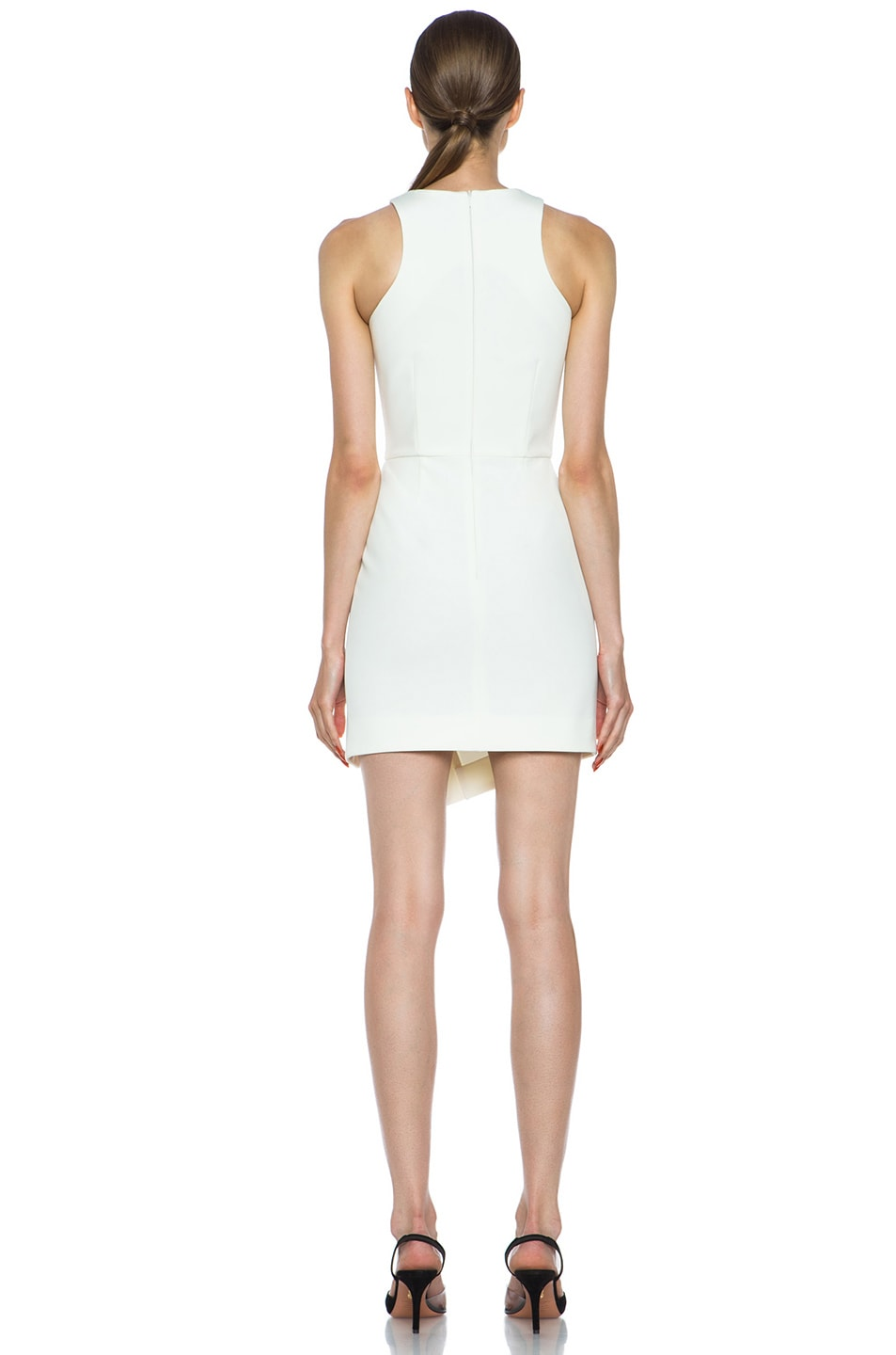 Image 4 of NICHOLAS Wrap Skirt Silk Dress in Milk