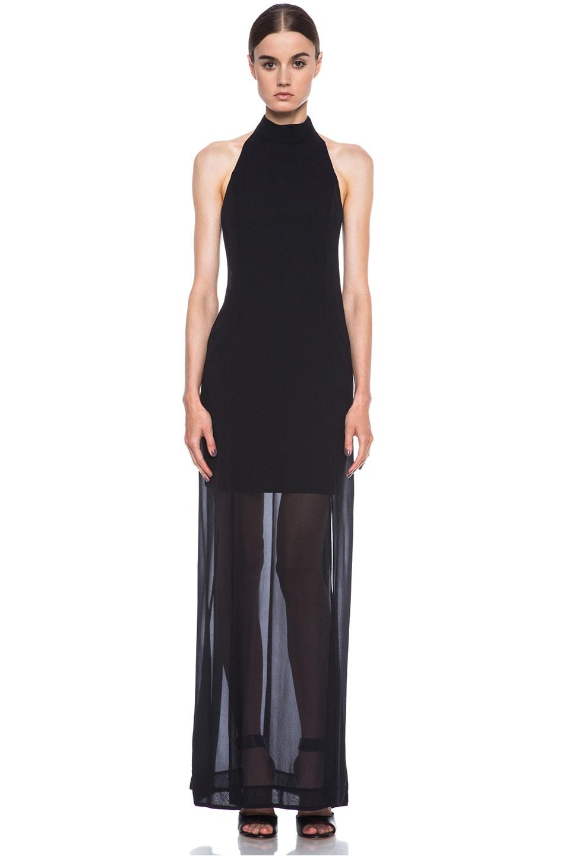 Image 1 of NICHOLAS Halter Silk Gown in Black