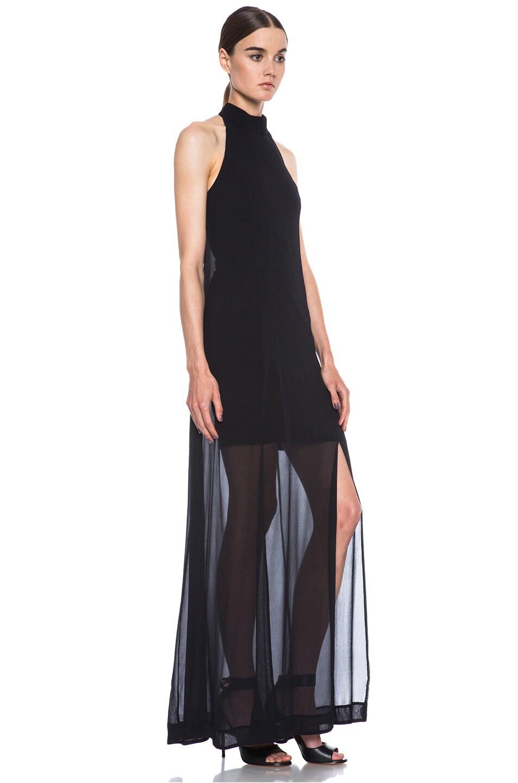 Image 3 of NICHOLAS Halter Silk Gown in Black