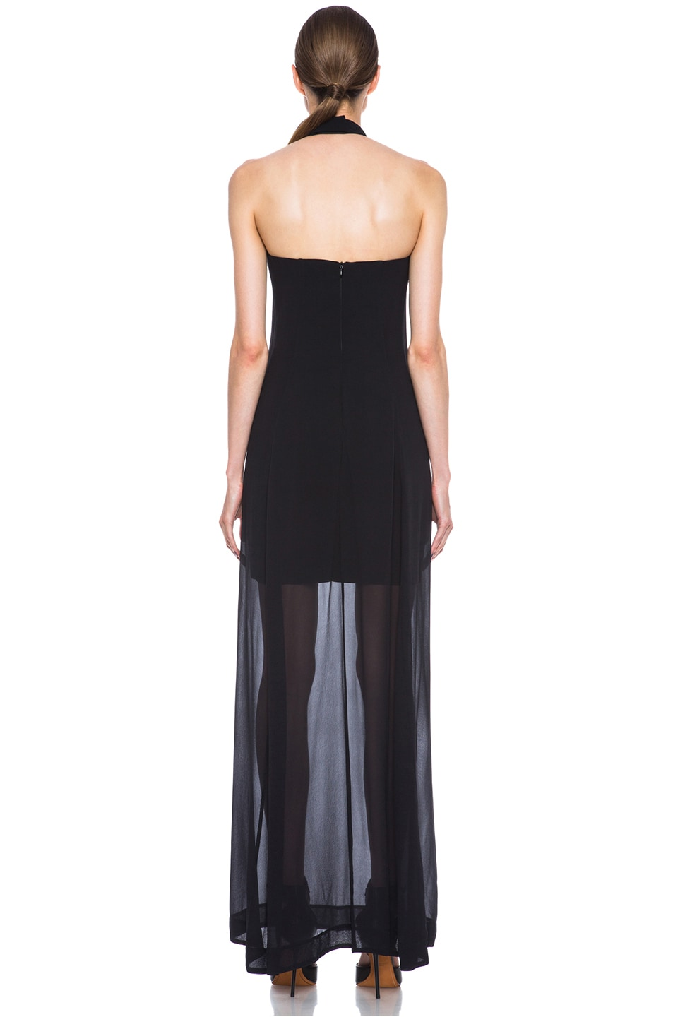 Image 4 of NICHOLAS Halter Silk Gown in Black
