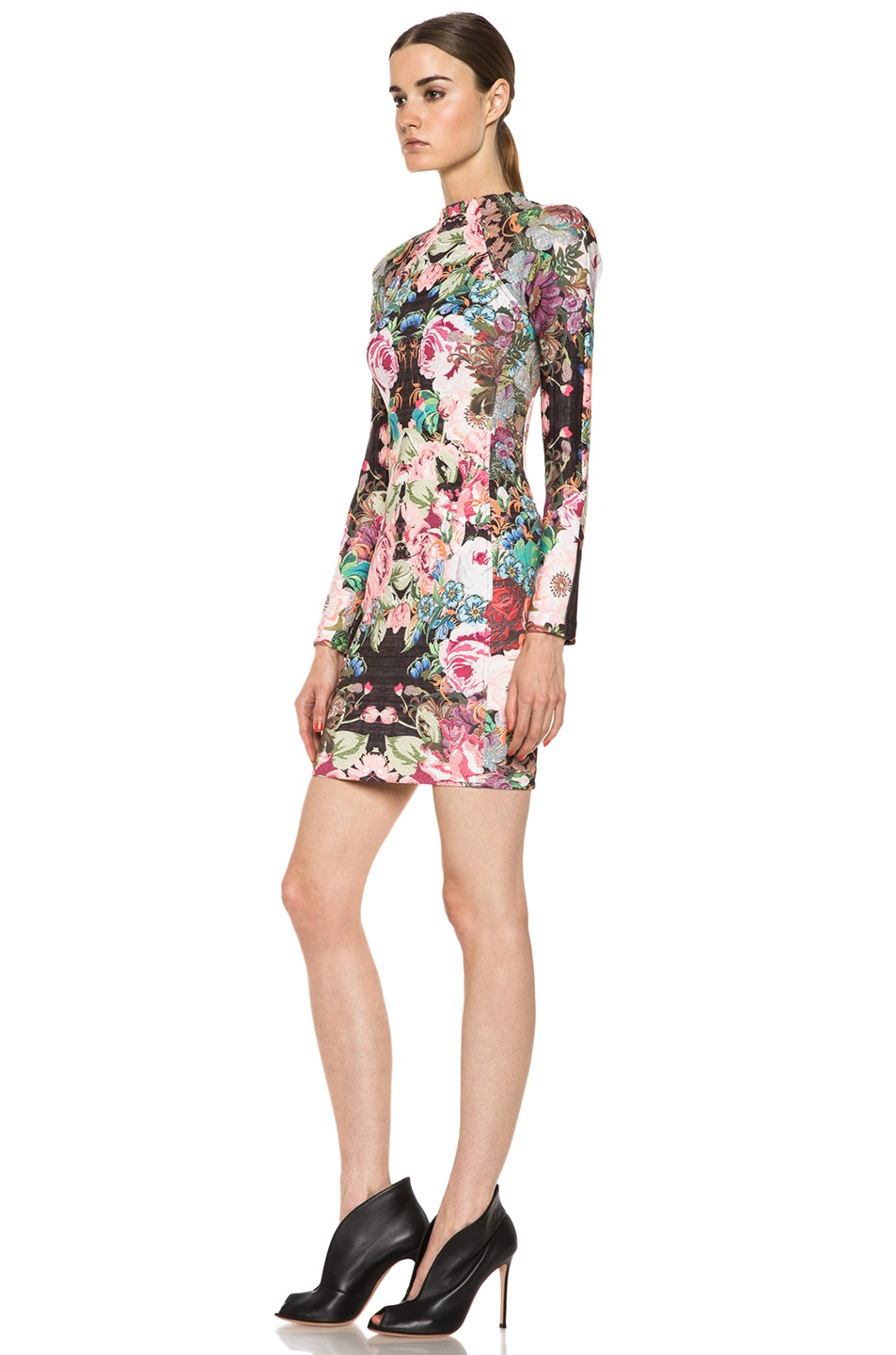 Image 2 of NICHOLAS Tapestry Print Scuba Long Sleeve Dress in Multi