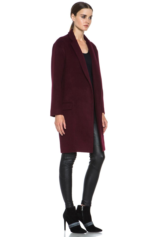 NICHOLAS Felted Wool Full Length Coat in Mulberry | FWRD