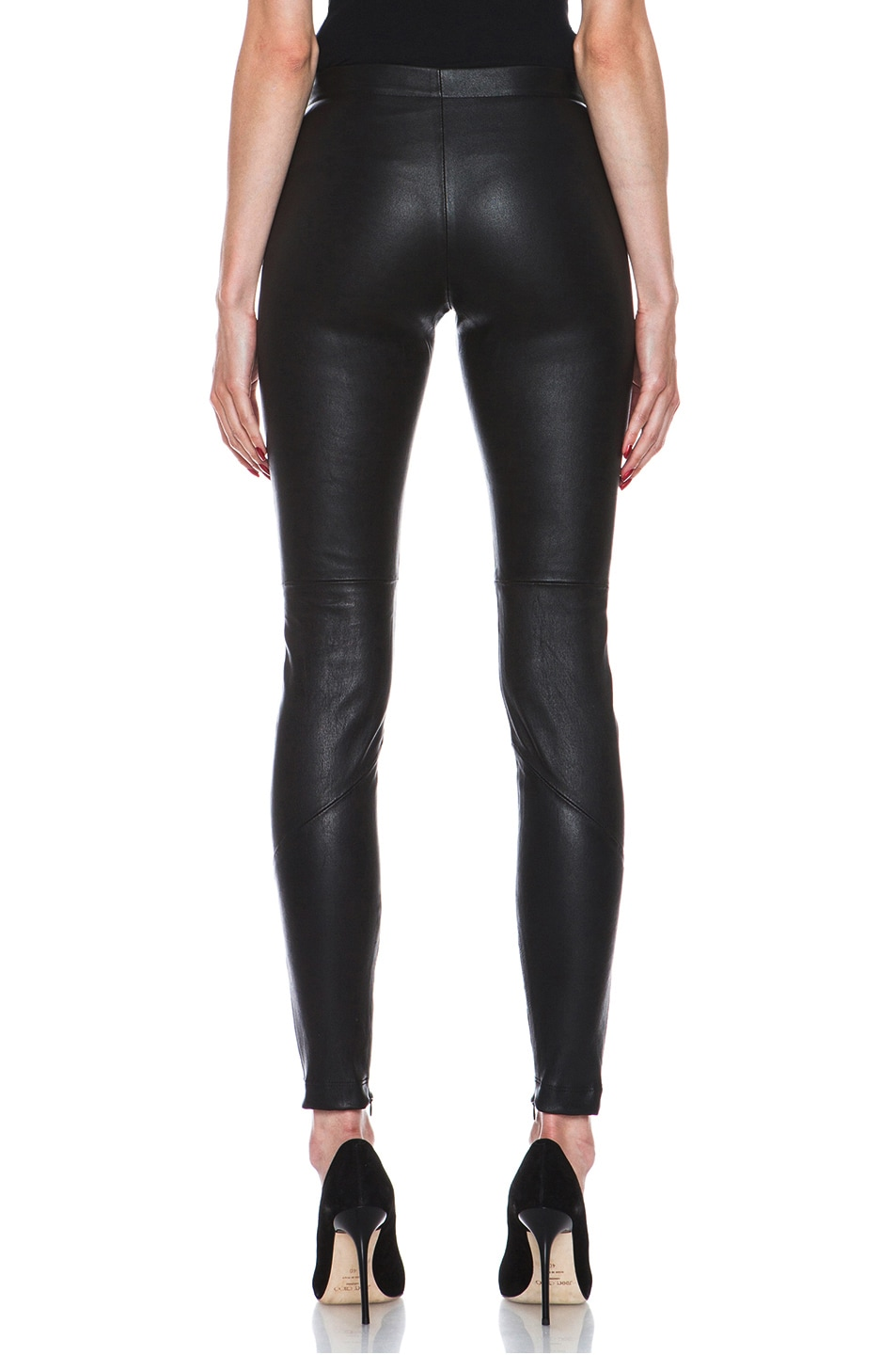 Image 4 of NICHOLAS Stretch Leather Legging in Black