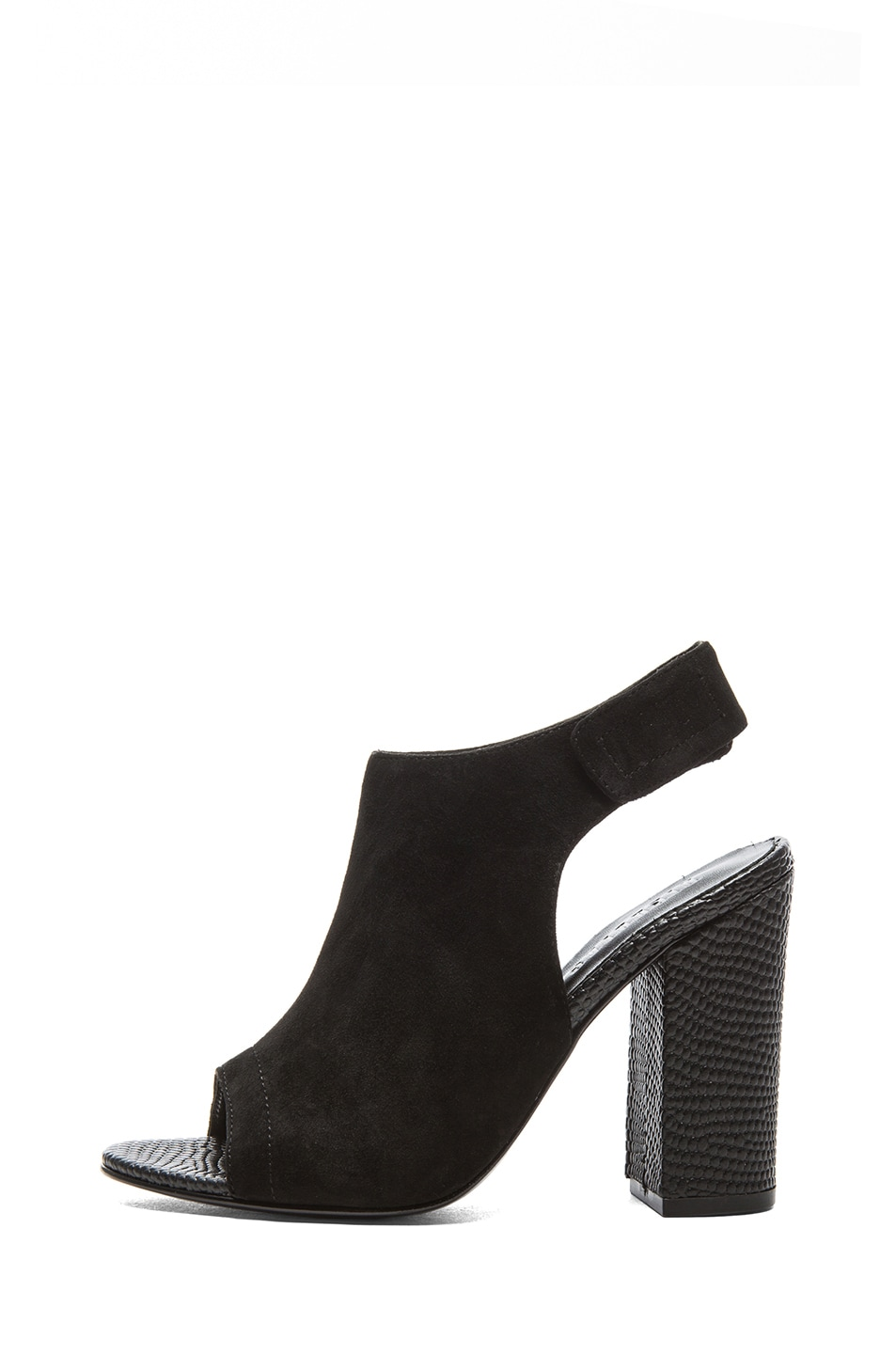 Image 1 of NICHOLAS Kalla Kid Suede Heels in Black