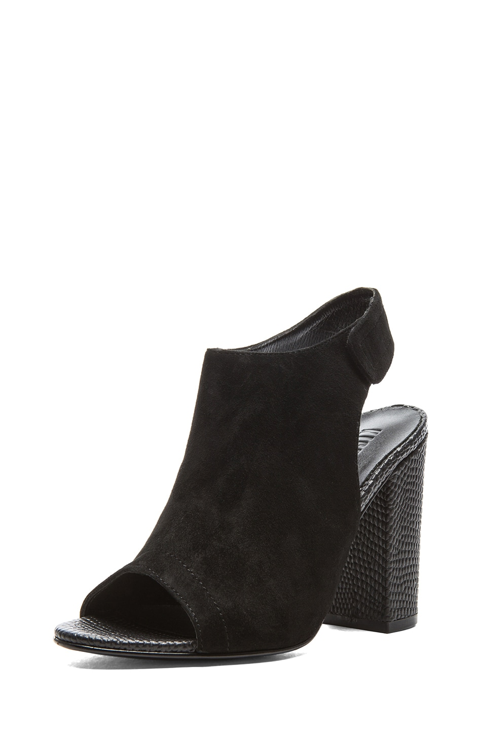 Image 2 of NICHOLAS Kalla Kid Suede Heels in Black