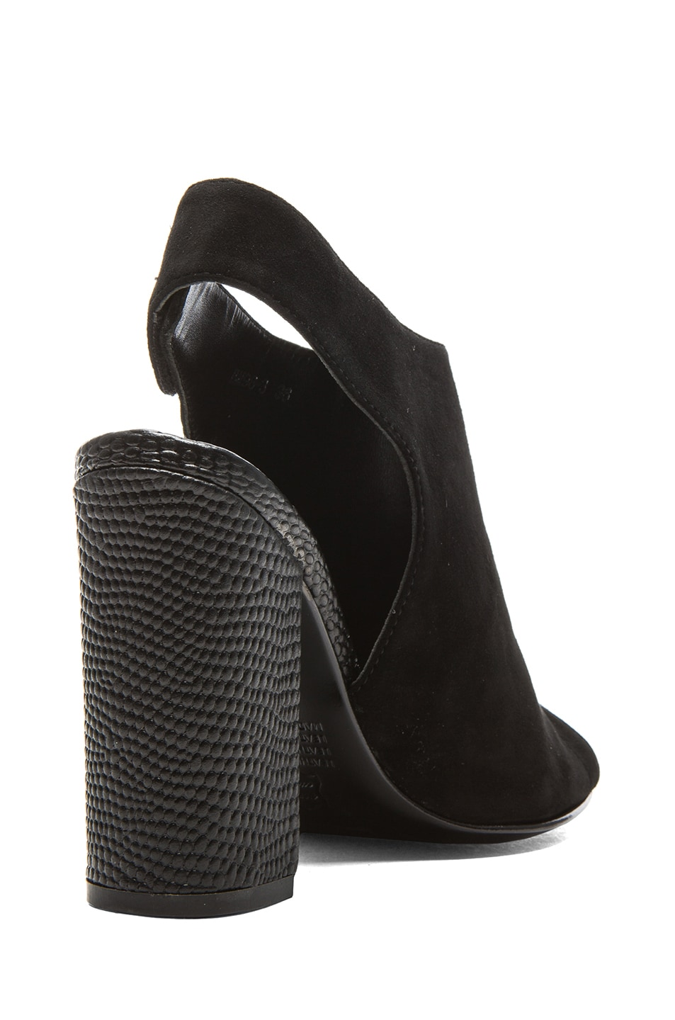 Image 3 of NICHOLAS Kalla Kid Suede Heels in Black