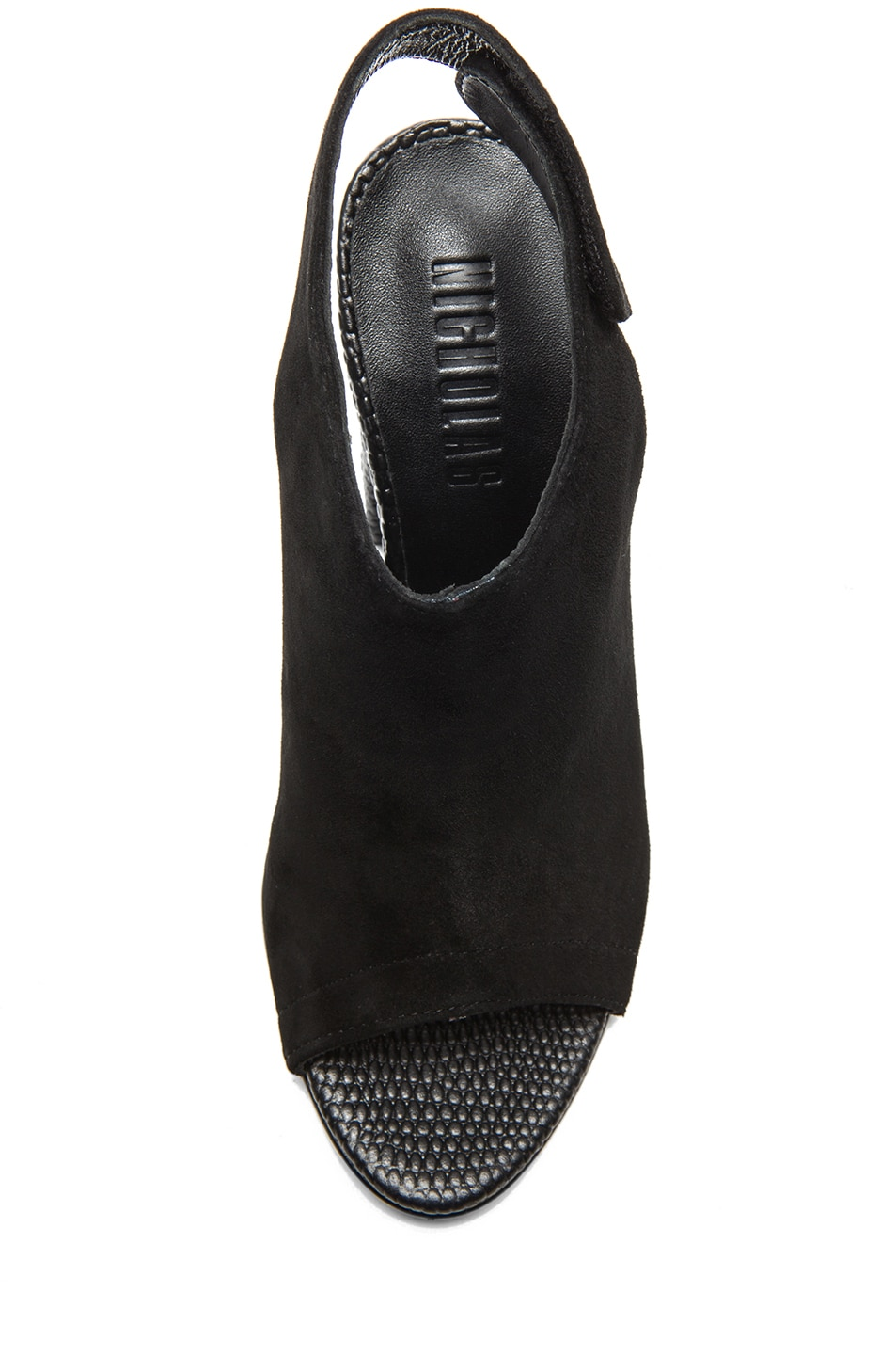 Image 4 of NICHOLAS Kalla Kid Suede Heels in Black