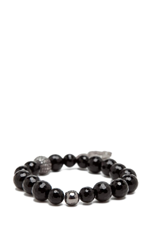 Image 4 of Nialaya Diamond Collection Snake Bracelet in Black