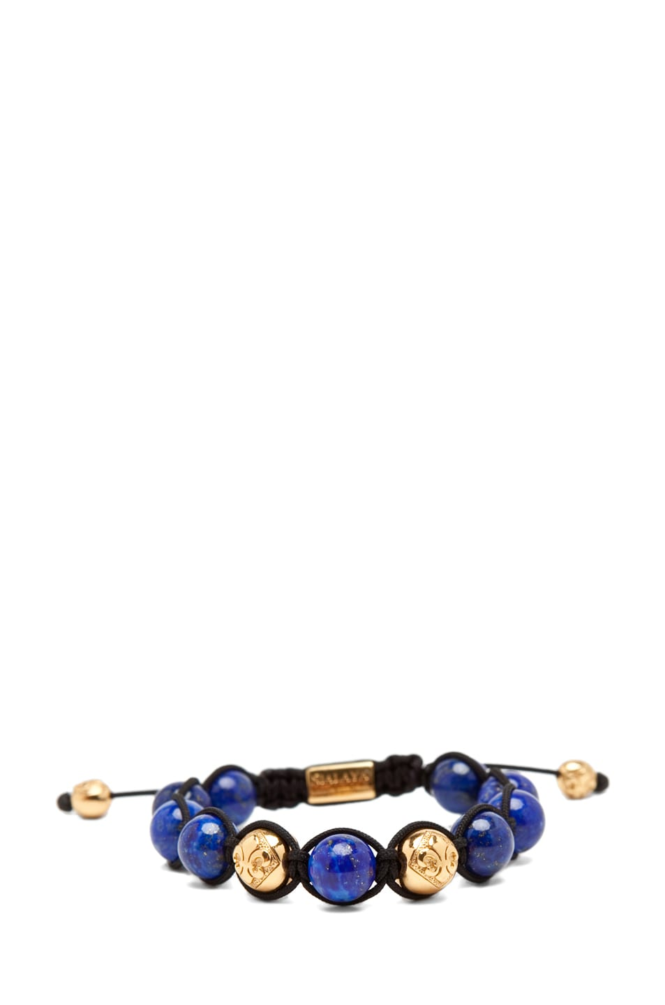 Image 2 of Nialaya Gold String Bracelet in Blue/Gold