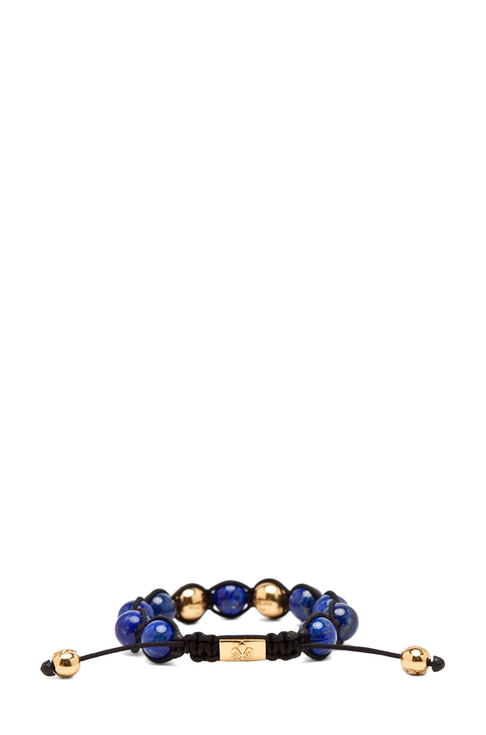 Image 3 of Nialaya Gold String Bracelet in Blue/Gold