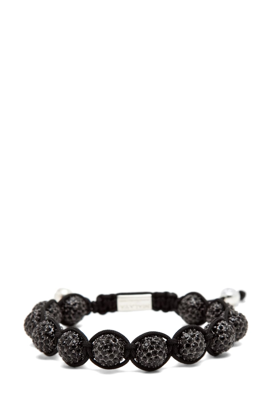 Image 2 of Nialaya Crystal Bracelet in Black