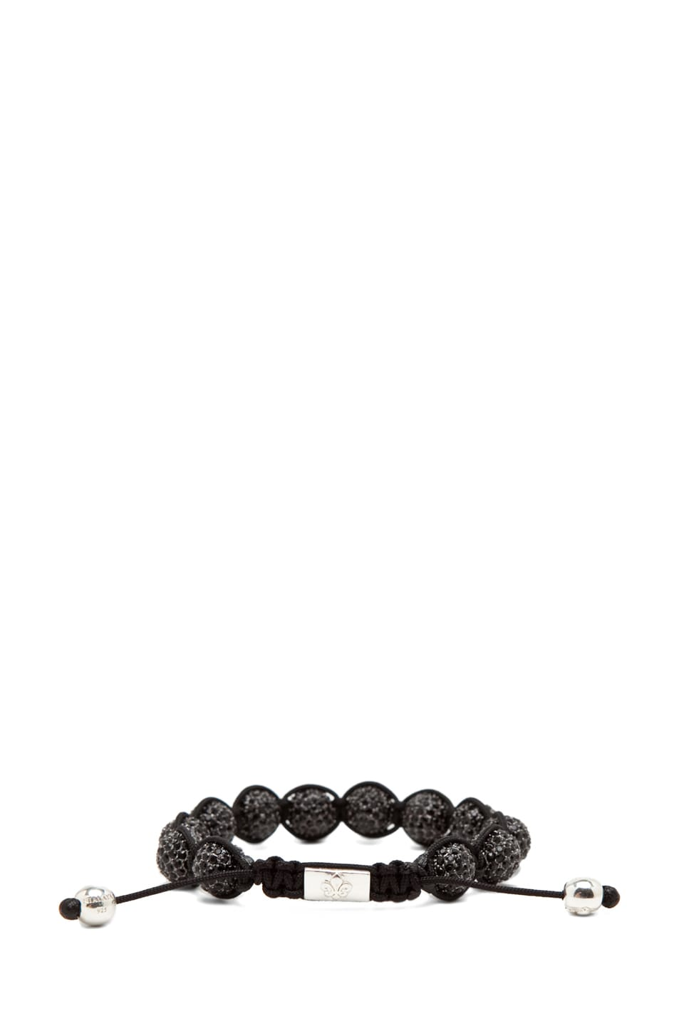 Image 3 of Nialaya Crystal Bracelet in Black