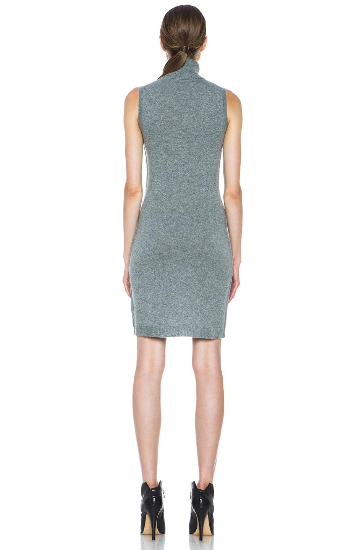Image 4 of Nili Lotan Cashmere Turtleneck Dress in Pewter