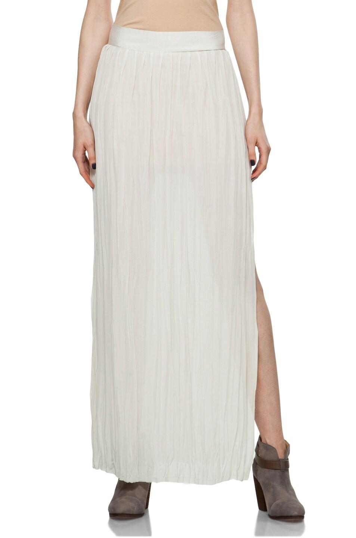 Image 1 of Nili Lotan Wrinkled Skirt in Oyster