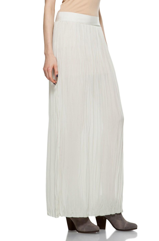 Image 3 of Nili Lotan Wrinkled Skirt in Oyster