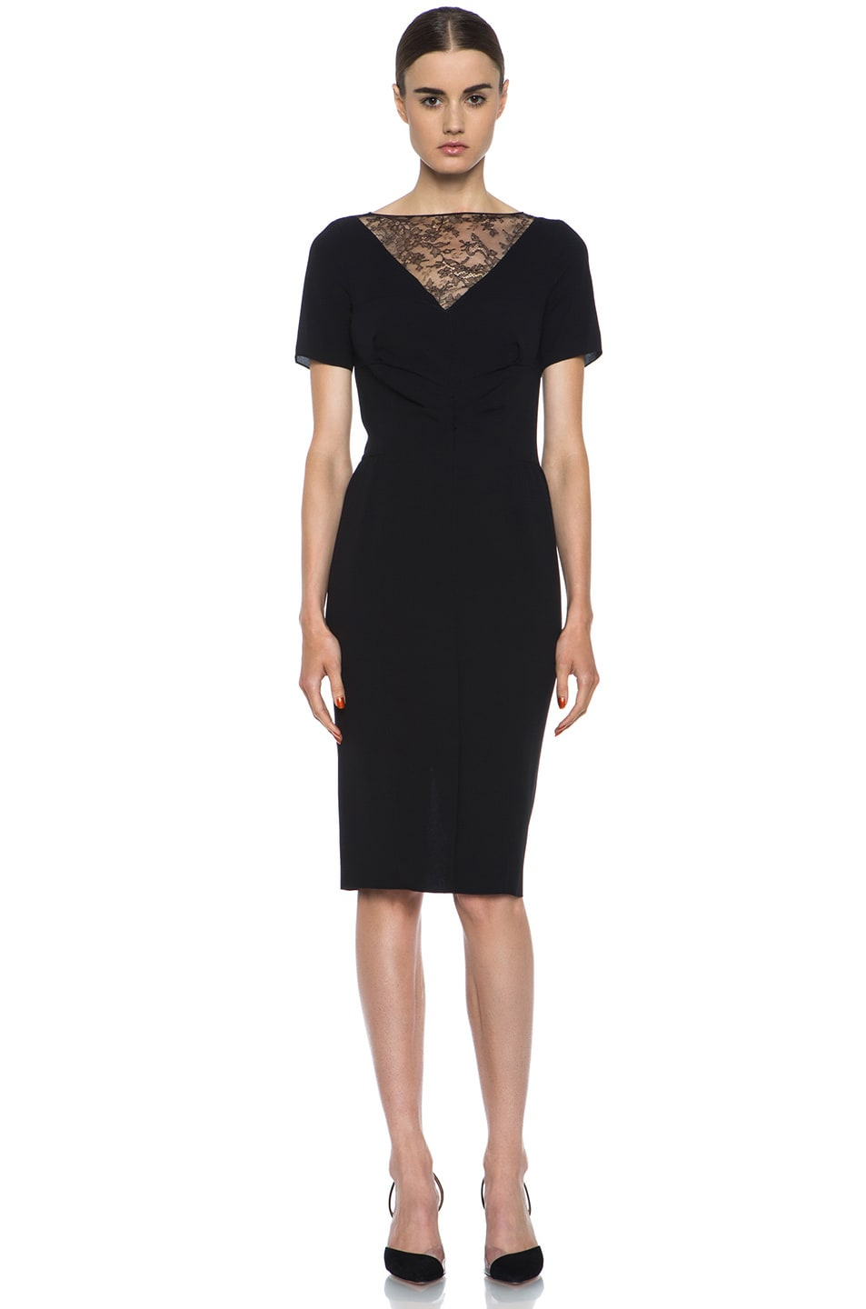 Image 1 of Nina Ricci Silk Crepe Dress in Black