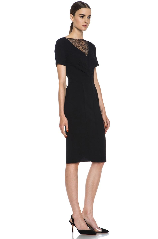 Image 3 of Nina Ricci Silk Crepe Dress in Black