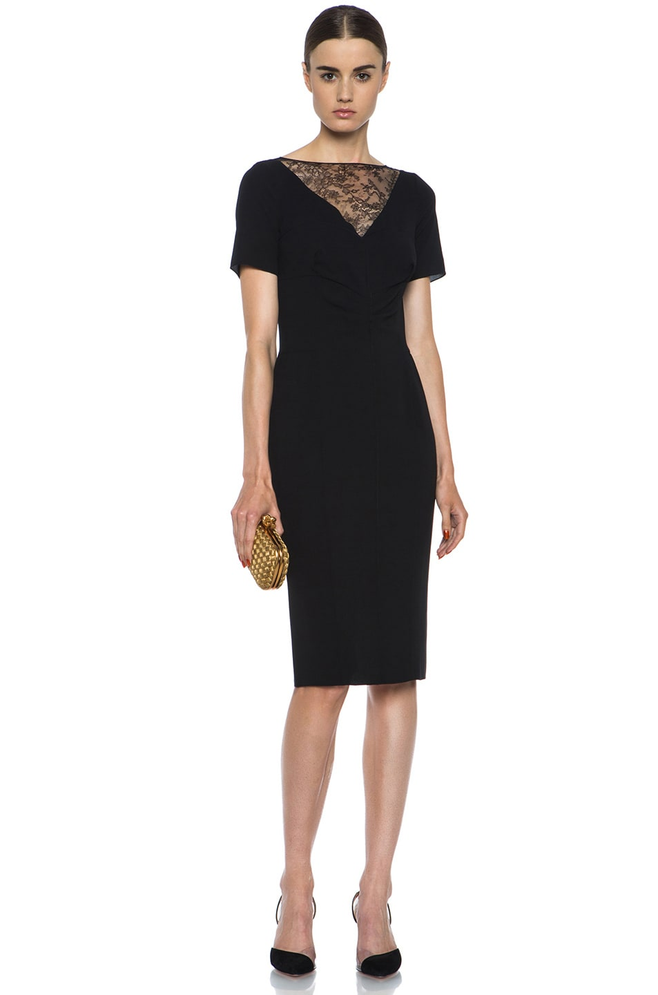Image 5 of Nina Ricci Silk Crepe Dress in Black