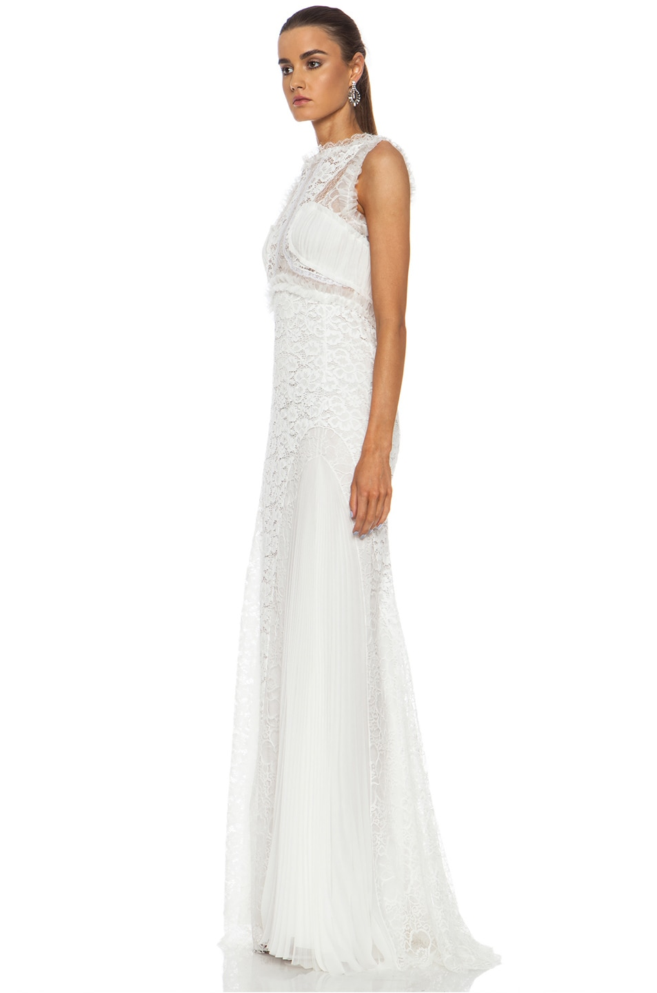 Image 2 of Nina Ricci Lace Viscose-Blend Gown in White