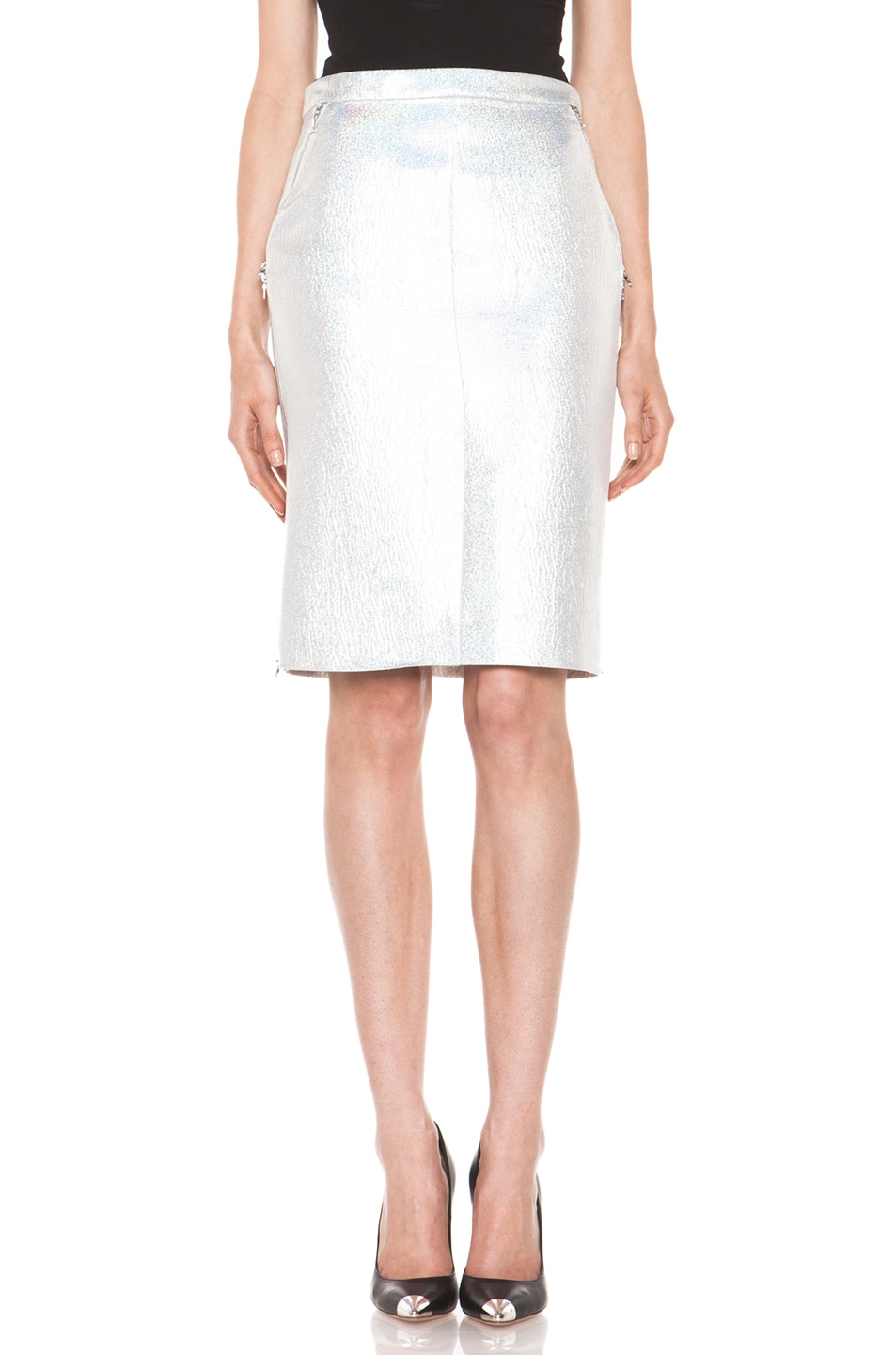 Image 1 of Nina Ricci Pencil Skirt in Gris Irise
