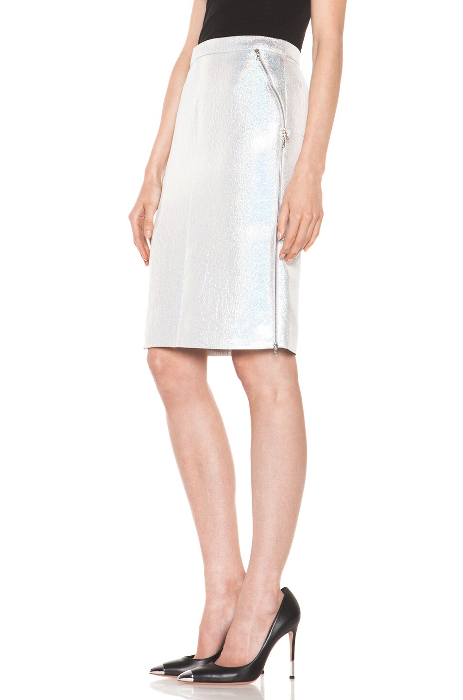 Image 2 of Nina Ricci Pencil Skirt in Gris Irise