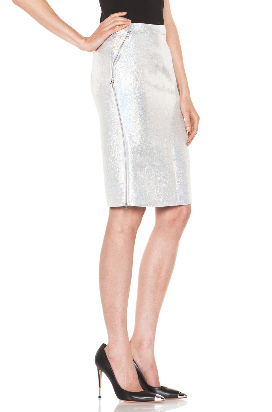 Image 3 of Nina Ricci Pencil Skirt in Gris Irise