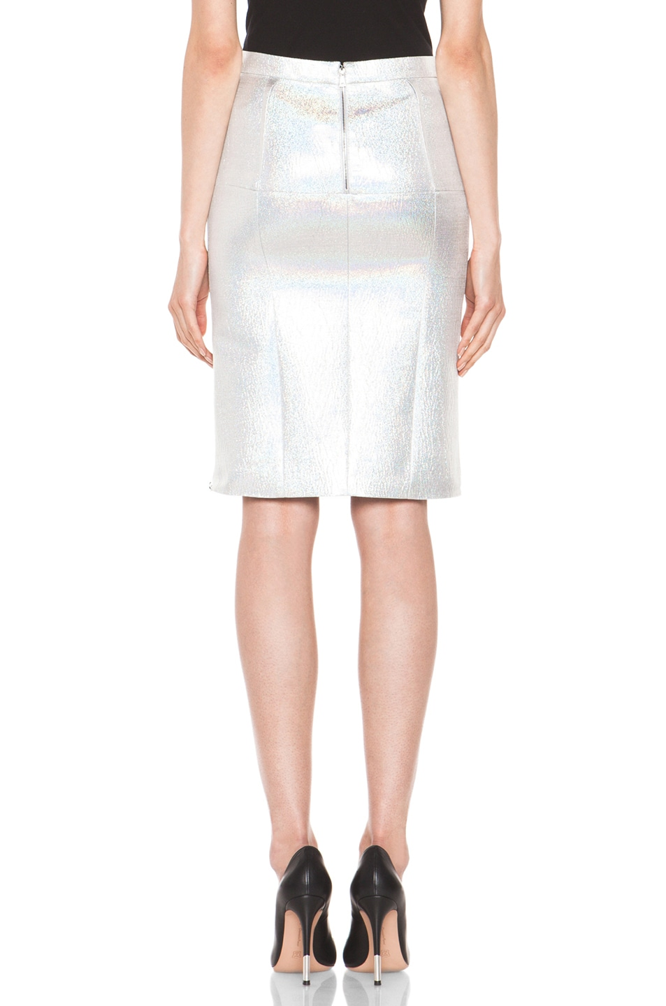 Image 4 of Nina Ricci Pencil Skirt in Gris Irise