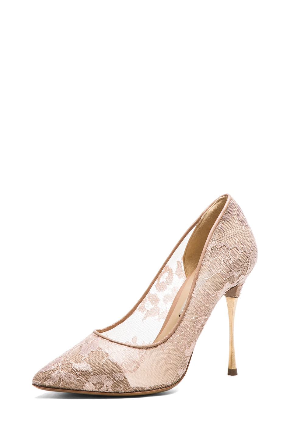 Image 2 of Nicholas Kirkwood Lace Pumps in Nude