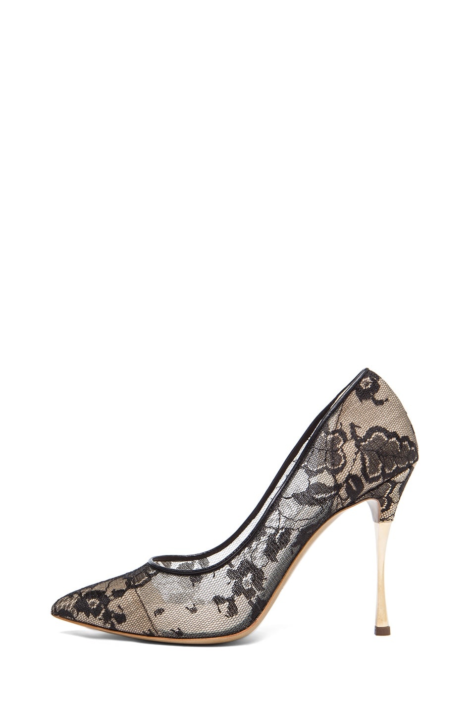 Image 1 of Nicholas Kirkwood Lace Pumps in Black