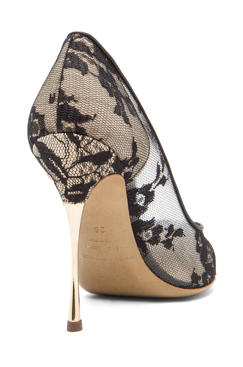 Image 3 of Nicholas Kirkwood Lace Pumps in Black