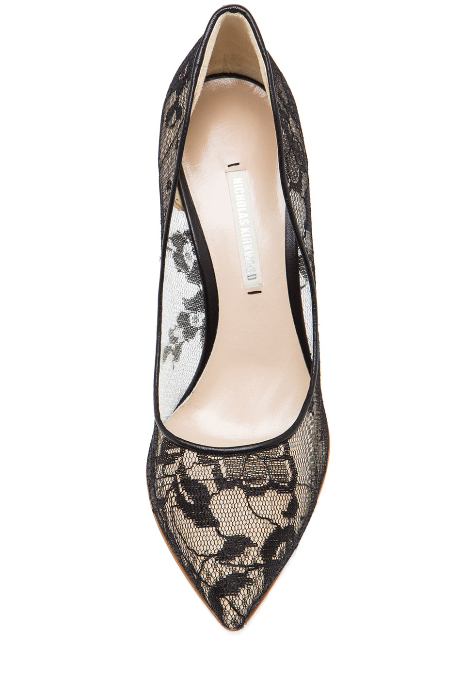 Image 4 of Nicholas Kirkwood Lace Pumps in Black