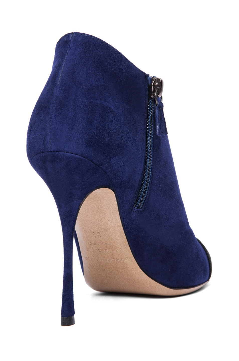 Image 3 of Nicholas Kirkwood Suede Ankle Boots in Black & Indigo