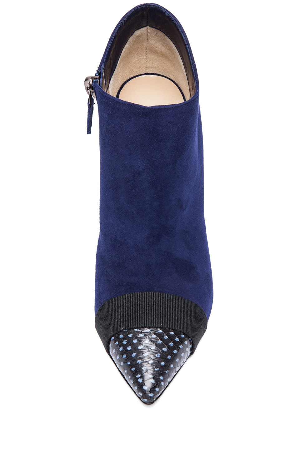 Image 4 of Nicholas Kirkwood Suede Ankle Boots in Black & Indigo