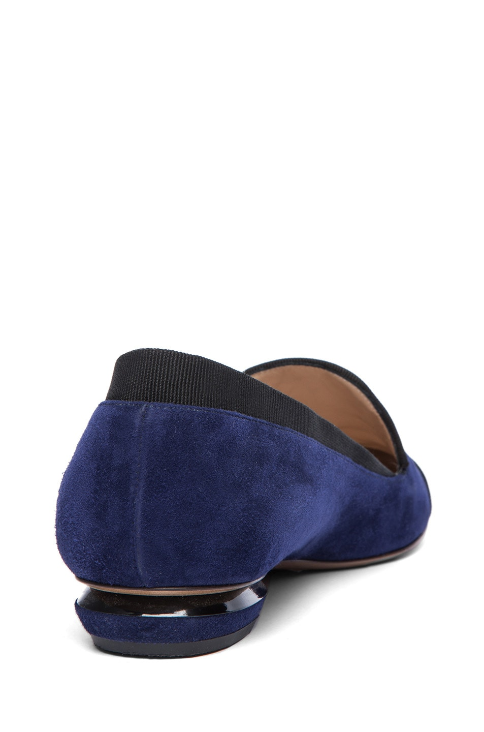 Image 3 of Nicholas Kirkwood Suede Loafers in Black & Indigo