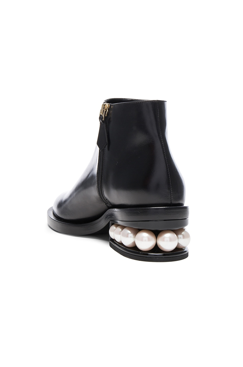 Image 3 of Nicholas Kirkwood Leather Casati Pearl Boots in Black