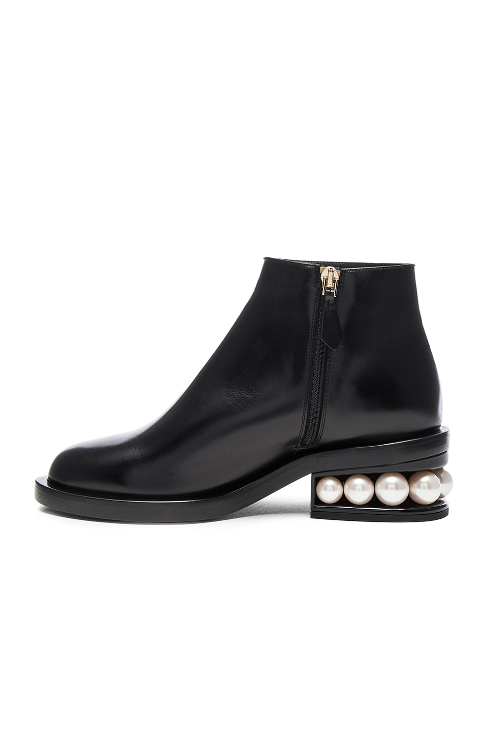 Image 5 of Nicholas Kirkwood Leather Casati Pearl Boots in Black