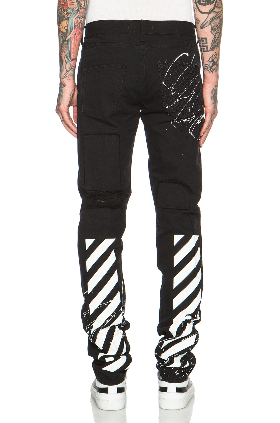OFF-WHITE Canvas White Pants in Black | FWRD