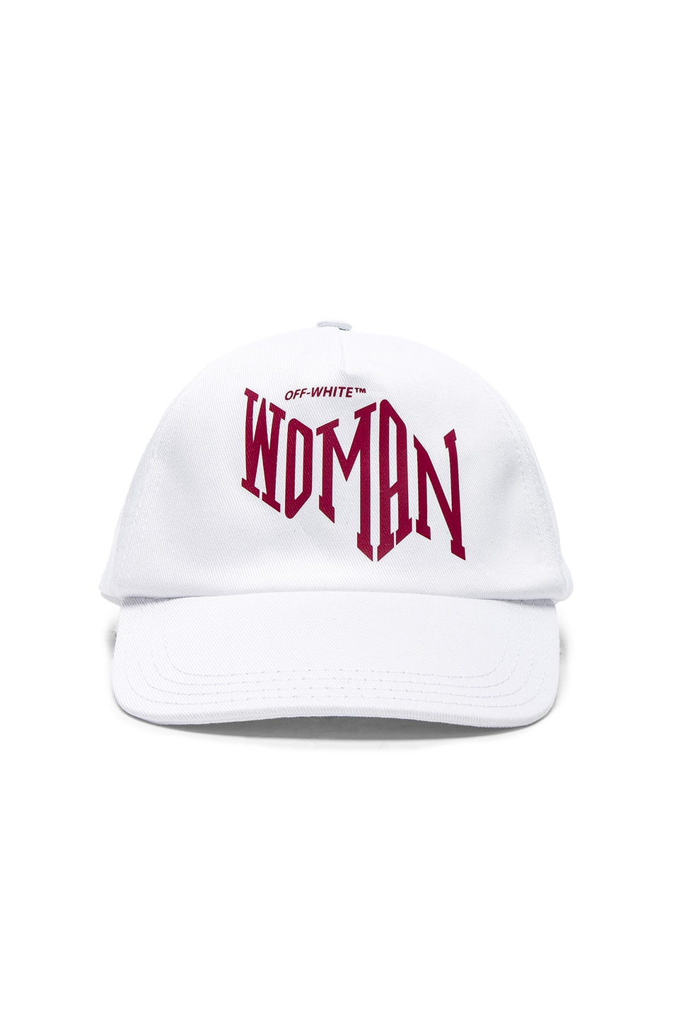 Image 1 of OFF-WHITE Woman Baseball Cap in White & Bordeaux