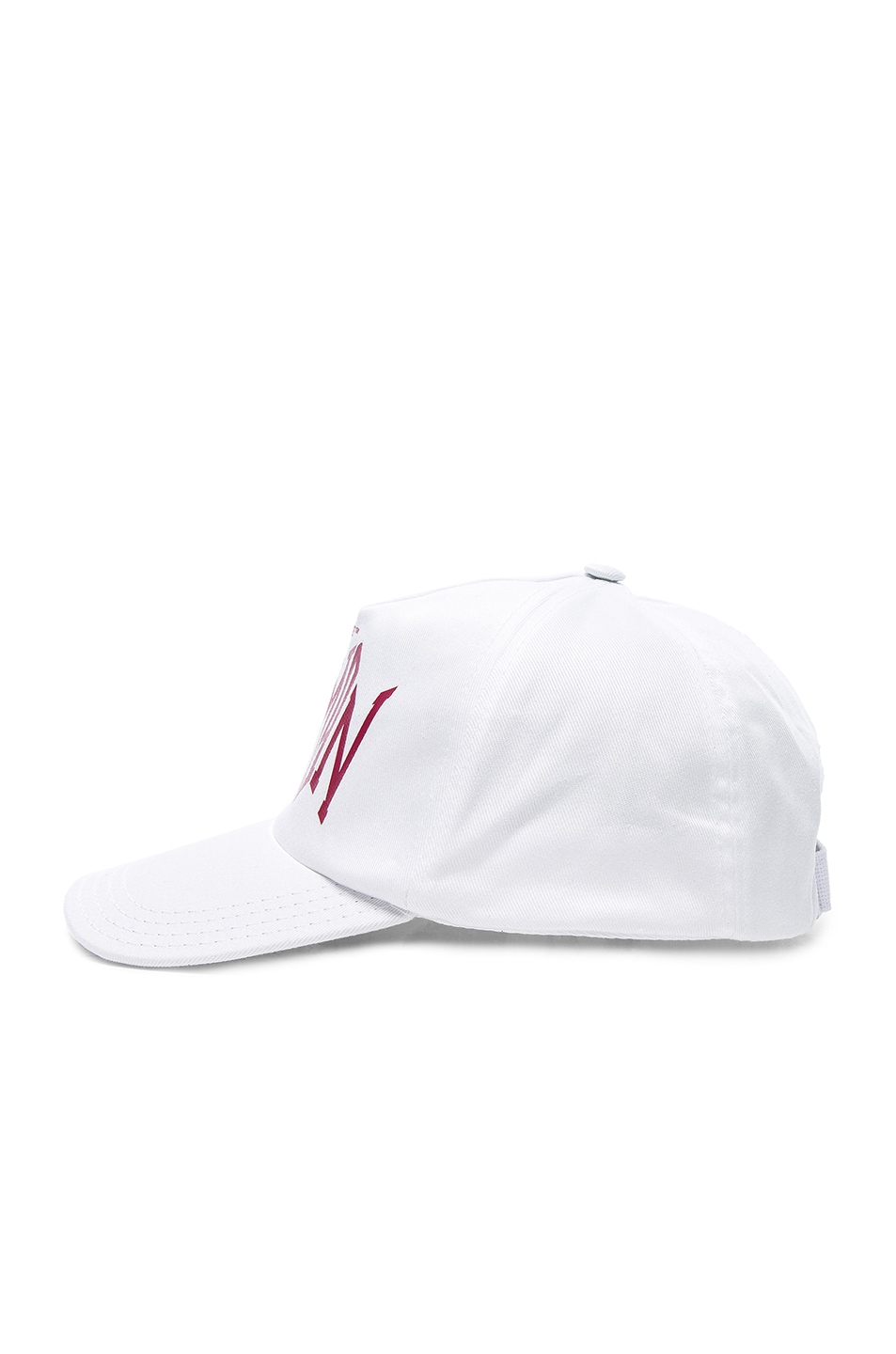 Image 3 of OFF-WHITE Woman Baseball Cap in White & Bordeaux