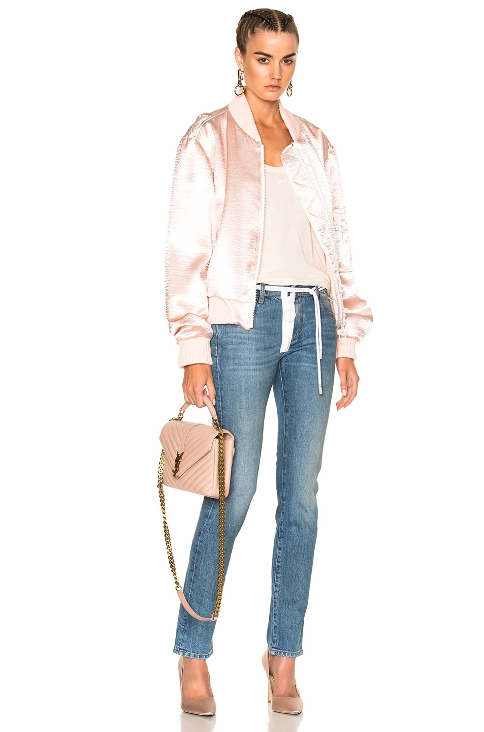 Image 5 of OFF-WHITE for FWRD Skinny Jeans in Vintage Wash