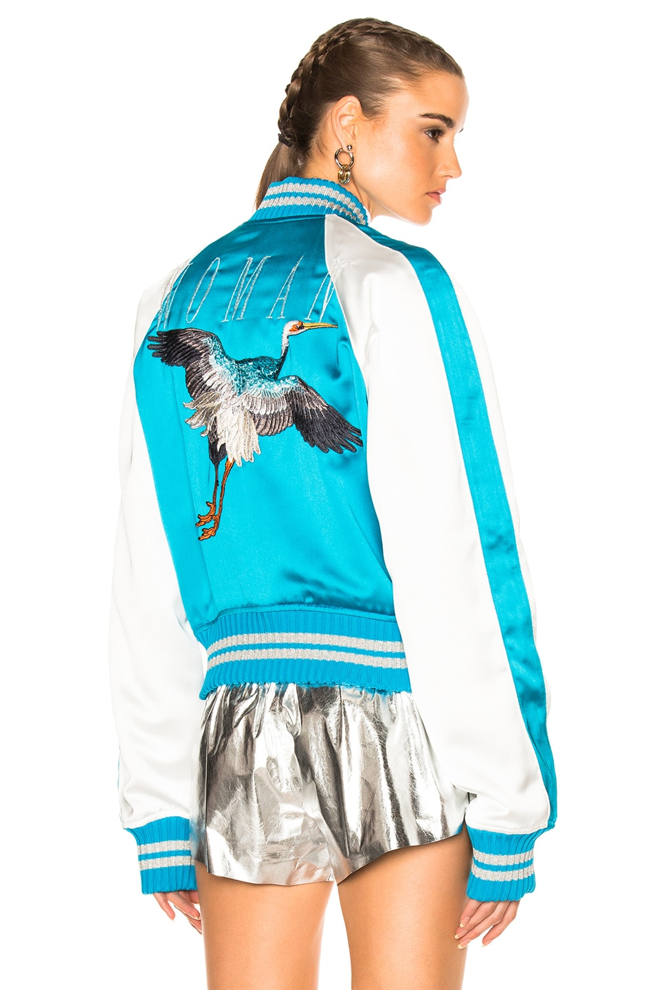 Image 1 of OFF-WHITE Souvenir Jacket in Blue & White